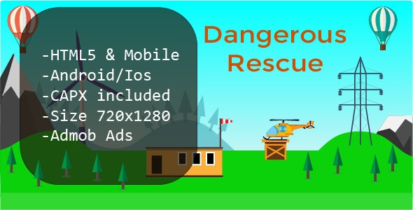 Dangerous Rescue (HTML5 + Mobile Version) Construct 2 - CodeCanyon Item for Sale