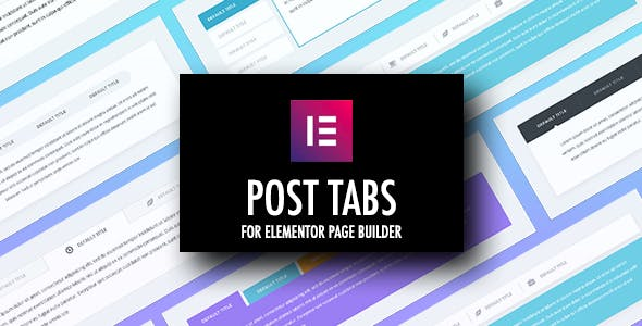 Post Tabs for Elementor Page Builder