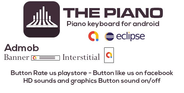 The Piano with admob - eclipse project