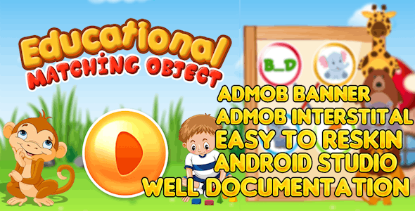 Kids Matching Objects  + AndroidStudio + Admob + Applovin