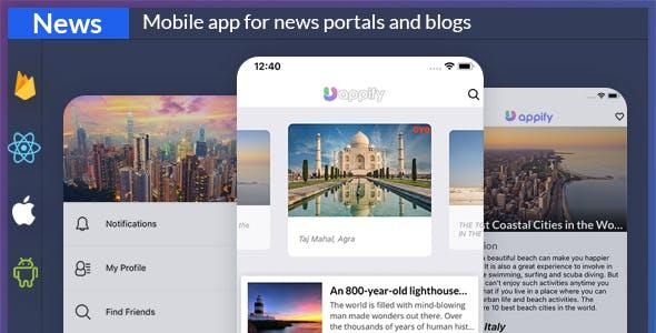 News app + backend ( React native Expo app )