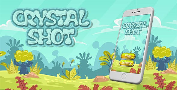 Crystal Shot Game Template With Admob Banner and Interstitial Ads