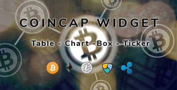 CoinCap Widget - Cryptocurrency WordPress Plugin