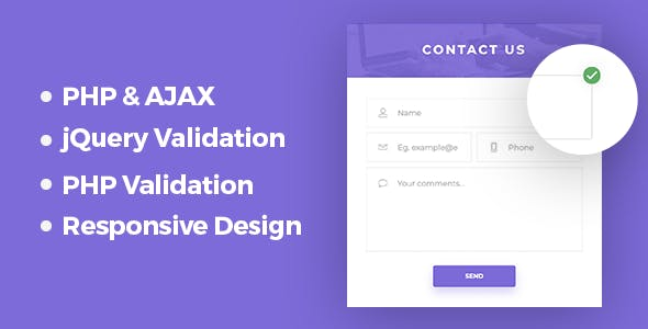 Responsive PHP & AJAX Contact Form