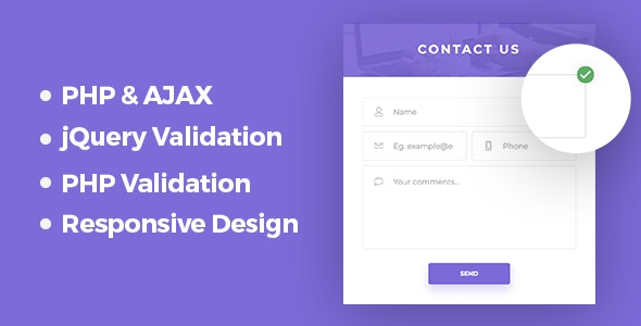 Responsive PHP & AJAX Contact Form - CodeCanyon Item for Sale