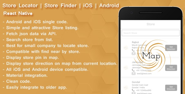 React native Store finder - Locator for iOS and android by
