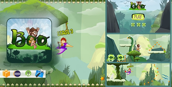 Boo Caveman - Game Adventure - Xcode - CodeCanyon Item for Sale