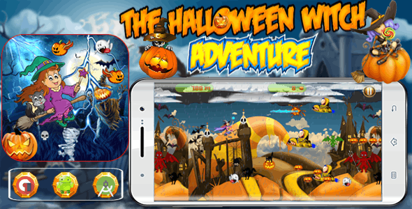 The Halloween Witch Adventure - Admob Banner & Interstitial (Android Studio)
