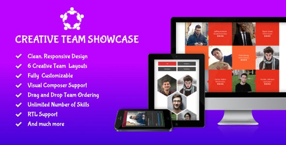 Creative Team Showcase - Team Showcase Plugin for WordPress