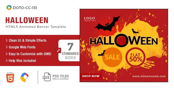 Halloween HTML5 Banners - 7 Sizes