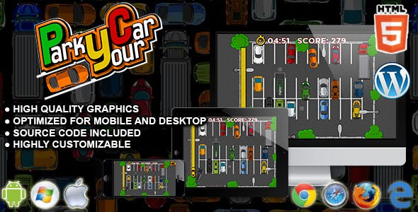 Park Your Car - HTML5 Parking Game