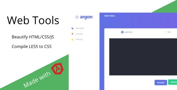 Web Tools - Beautify HTML/JS/CSS & Compile LESS Online - CodeCanyon Item for Sale