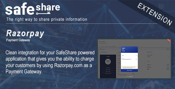 SafeShare integration with Razorpay.com Payment Gateway
