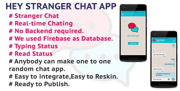 Stranger Chat (Random Chat) - Firebase Free Database, Chat with Stranger around the world - CodeCanyon Item for Sale