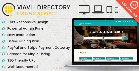 Viavi - Directory Listing Script - CodeCanyon Item for Sale