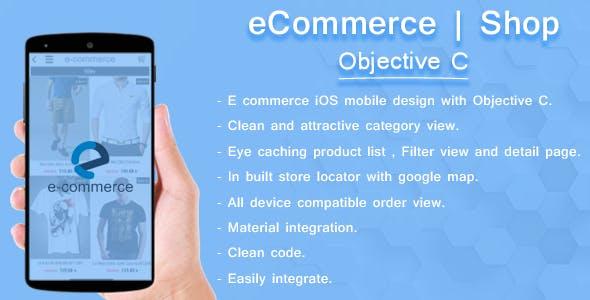 iOS E-Commerce template | Objective C