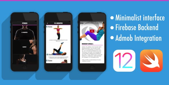 Fitness App - iOS 12 - Swift 5 - Firebase - AdMob