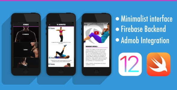 Fitness App - iOS 12 - Swift 5 - Firebase - AdMob by bpolat1