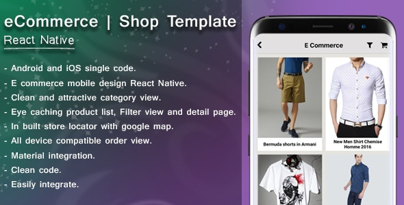 E-Commerce template | React Native - CodeCanyon Item for Sale
