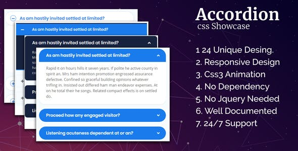 Accordion CSS Showcase
