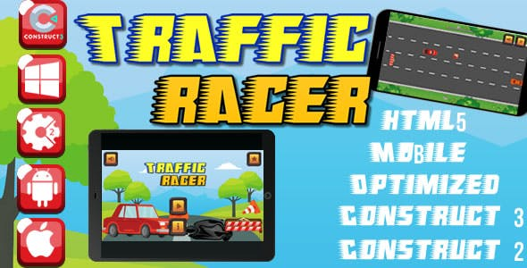 Traffic Racer - HTML5 Game (Capx)