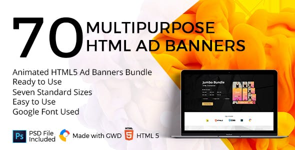 10 Animated HTML5 Ad Banners Bundle