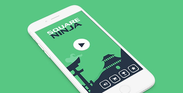 SQUARE NINJA WITH ADMOB - IOS XCODE FILE - CodeCanyon Item for Sale