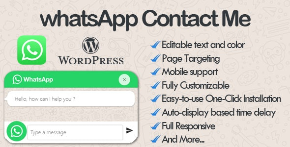 WhatsApp Contact Me - WhatsApp Chat wordpress Plugin - CodeCanyon Item for Sale