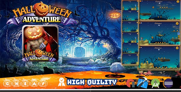 Halloween Adventure - Template Buildbox - All Assets free -  ADMOB INTEGRATED