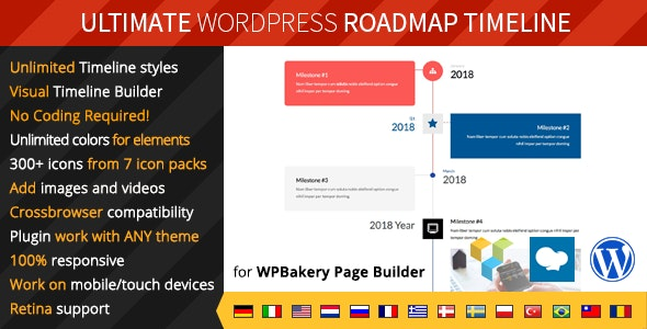 Ultimate Roadmap Timeline – Responsive WordPress Timeline plugin - CodeCanyon Item for Sale