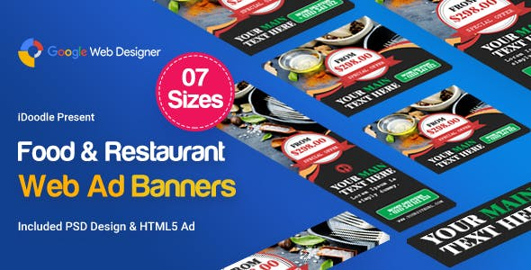 Food & Restaurant Banners Ad Template