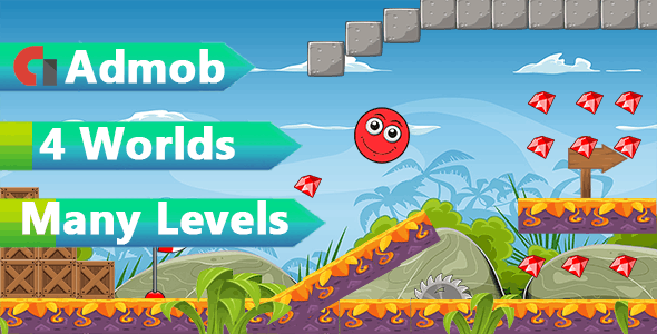 Super Red Ball World - Admob Android Studio + Admob Ads