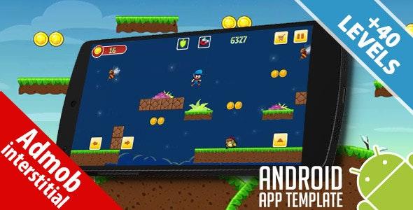 Super Gary World Adventure Android Studio Template Admob Ads