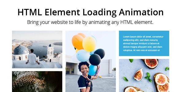 HTML Element Loading Animation - CodeCanyon Item for Sale