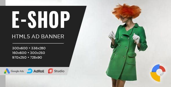 E-SHOP Banner Ad Templates – HTML5 Animated GWD