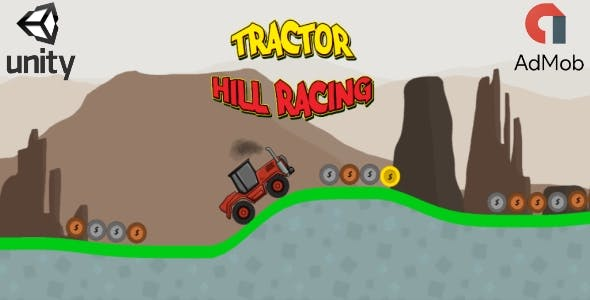 Tractor Hill Racing (Unity3D iOS game + Admob Ads)