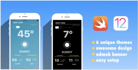 Weather App | Swift 4.2 | iOS 12 | AdMob - CodeCanyon Item for Sale