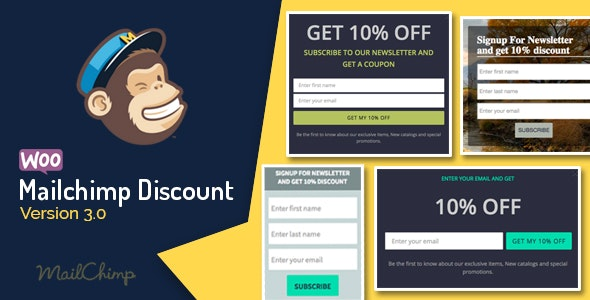 Woocommerce Mailchimp Discount - CodeCanyon Item for Sale