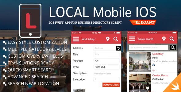 Business Directory Classified iOS App