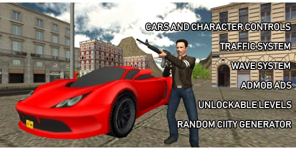 Crime Wars of San Andreas - GTA Style iOS Unity Game