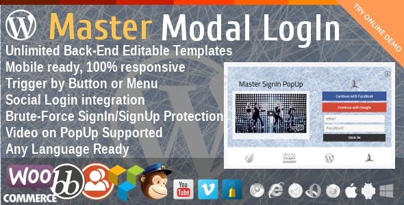 Master Modal LogIn PopUp - CodeCanyon Item for Sale