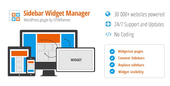 Sidebar & Widget Manager for WordPress        Nulled
