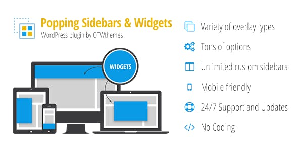 Popping Sidebars and Widgets for WordPress