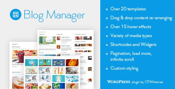 Blog Manager for WordPress        Nulled