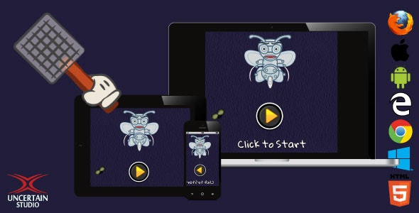 Fly Catcher - HTML5 Action Reflexes Game - CodeCanyon Item for Sale