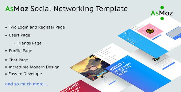 AsMoz Social Networking Template