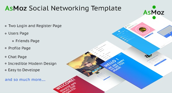 AsMoz Social Networking Template - CodeCanyon Item for Sale