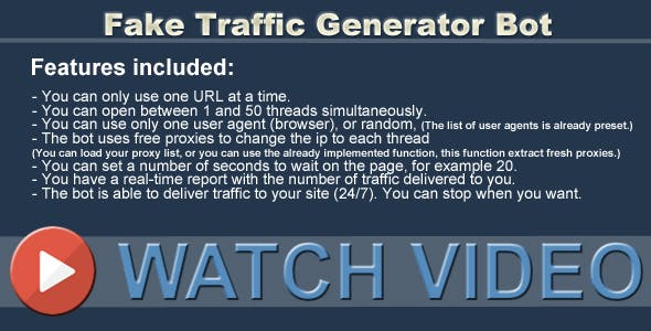 Fake Traffic Generator Bot