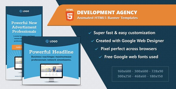 HTML5 Animated Banner Ads - Development Agency (GWD)