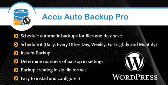 Accu Auto Backup Pro - CodeCanyon Item for Sale